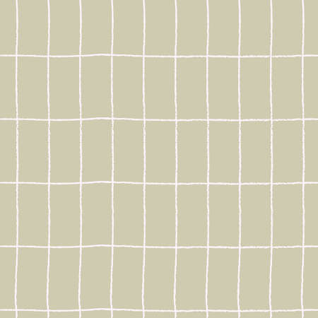 Seamless checkered repeating pattern with hand drawn grid. Gray plaid background for wrapping paper, surface design and other design projects Ilustração