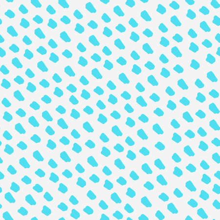 Seamless repeating pattern with marker ink pen spots. Blue vector background for surface design and other design projects
