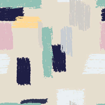 Seamless repeating pattern with multicolored vertical and horizontal paint stripes. Brushstroke effect