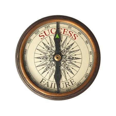 compas de dibujo: Br�jula gu�as para el �xito Foto de archivo