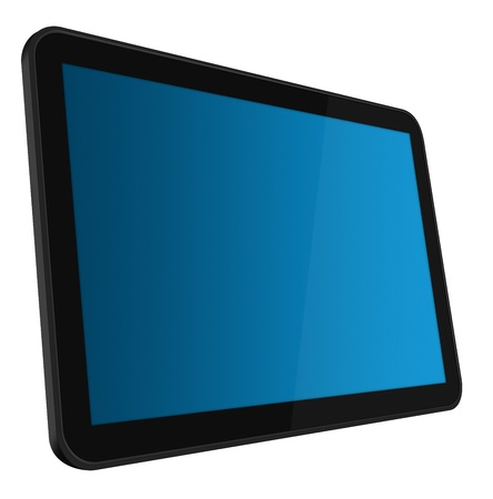 LCD Interactive Touch screen digital tablet Stock Photo - 9356764