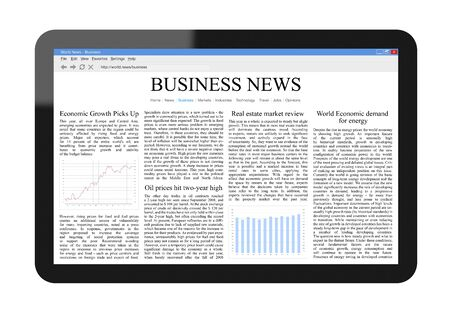 Business News on Tablet PC Stock Photo - 9362699