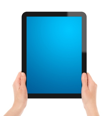 Holding Tablet PC Stock Photo - 9565881