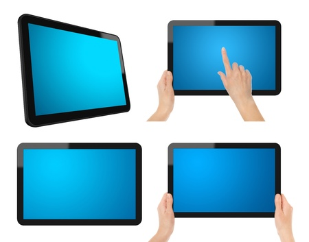 Tablet PC Set with Clipping Path. Stock Photo - 9565919