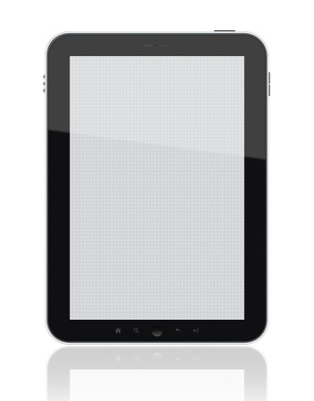 blank tablet: Tablet and screen. Isolated on white. XXXL size, ultra quality.