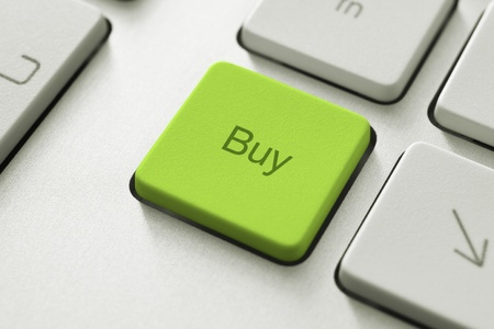 Buy button on the keyboard. Toned Image. Stock Photo - 10365288