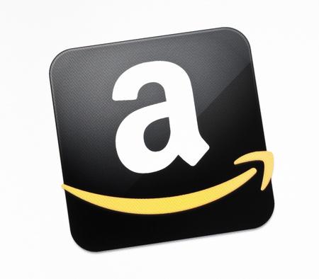 Kiev, Ukraine - December 15, 2011: The Amazon.com sign on a monitor screen. Amazon.com is an american world Editorial