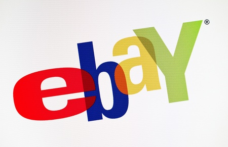 ebay: Kiev, Ukraine - December 15, 2011: Close-up view of eBay logotype on a monitor screen. eBay Inc. is an american online auction and a shopping web site service worldwide. Founded in September 3, 1995 by Pierre Omidyar.