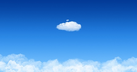 One cloud against blue sky with cloudscape. Concept image for cloud computing and ecology theme. Stock Photo - 12181428
