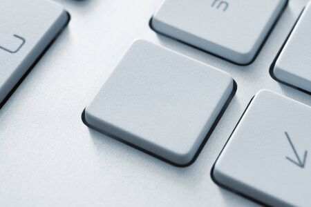 Blank button on the keyboard  Toned Image Stock Photo - 12449118