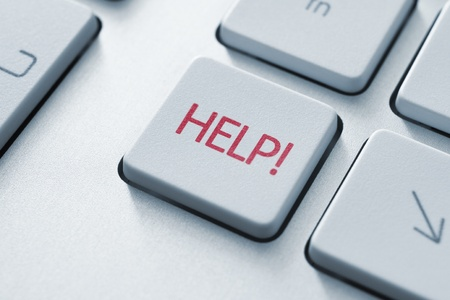 find us: Help button on the keyboard  Toned Image