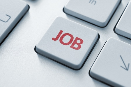 toned image: Job button on the keyboard  Toned Image  Stock Photo