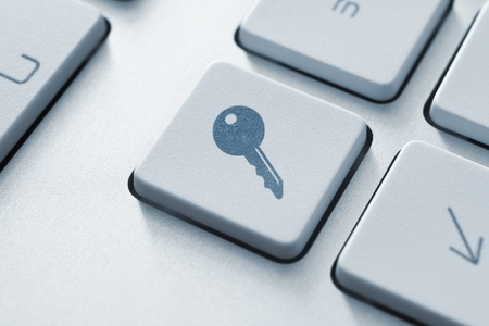 Access button on the keyboard  Toned Image Stock Photo - 12449157