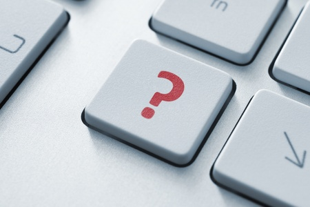 Question button on the keyboard  Toned Image Stock Photo - 12449144