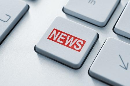icone news: Hot bouton de la cl� sur le clavier de nouvelles Banque d'images