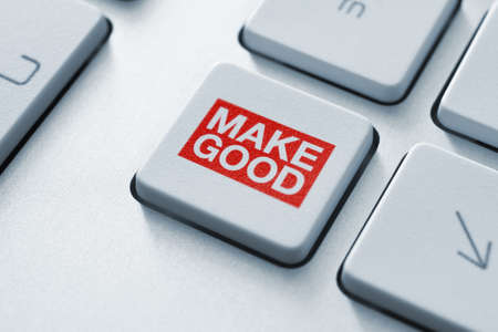 Magic button makes everything better when clicked  Conceptual key on keyboard Stock Photo - 16062707
