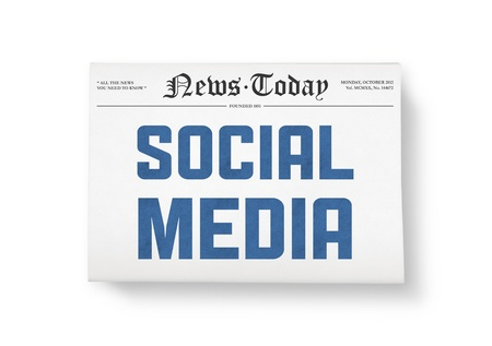 A newspaper with headline Stock Photo - 16906606