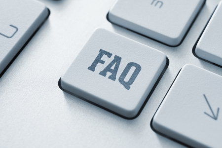 Frequently asked question button on a modern computer keyboard photo