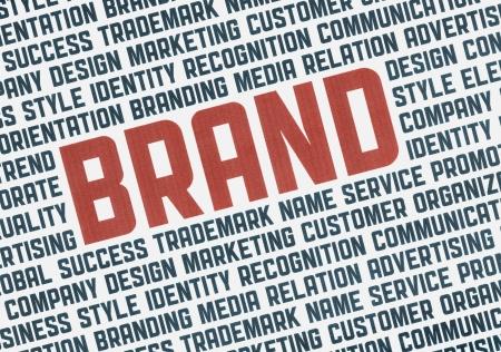 Typographie illustration affiche de mots de gestion de marque