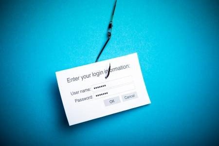 lösenord: Begreppet dataintrång eller phishing en inloggning och lösenord med malware program Stockfoto