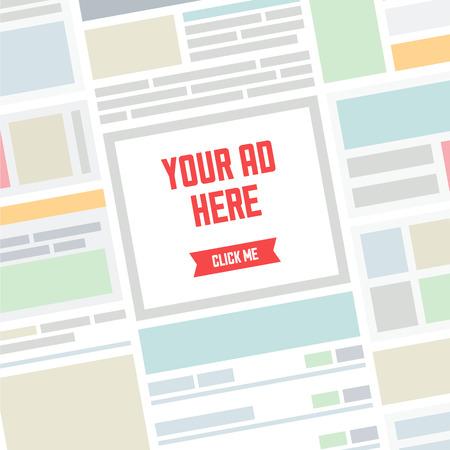 legen: abstrakten Seite der Website mit einfachen Bannerwerbung und Text Ort