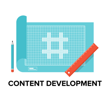 kódování: Proces Obsah vývoj internetových stránek a optimalizace webových stránek rozhraní, webové stránky plán a HTML kódování. Plochý design styl moderní vektorové ilustrace koncept. Izolovaných na bílém pozadí.
