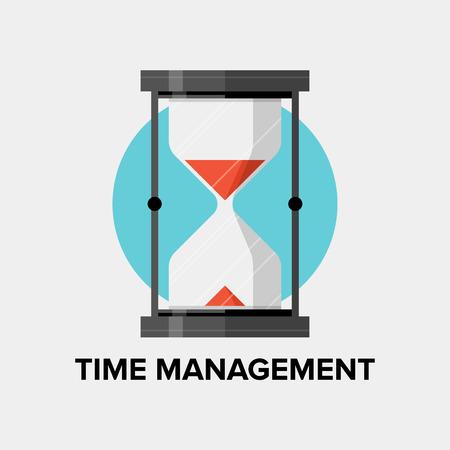 productividad: La gesti�n del tiempo para los negocios y el concepto de desarrollo personal, la planificaci�n de la eficiencia y la productividad de la organizaci�n de �xito para la mejora de progreso. Estilo Dise�o plano ilustraci�n vectorial moderna. Aislado en el fondo blanco. Vectores