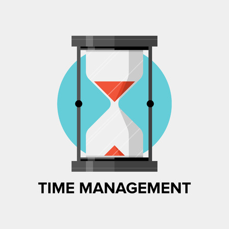 Time management for business and personal development concept, efficiency planning and success productivity organization for progress improvement. Flat design style modern vector illustration. Isolated on white background. Vector
