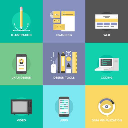 kódování: Uživatelské rozhraní designu webových stránek, webové stránky kódování a programování, vývoj mobilní aplikace, branding identity a vizualizace dat.