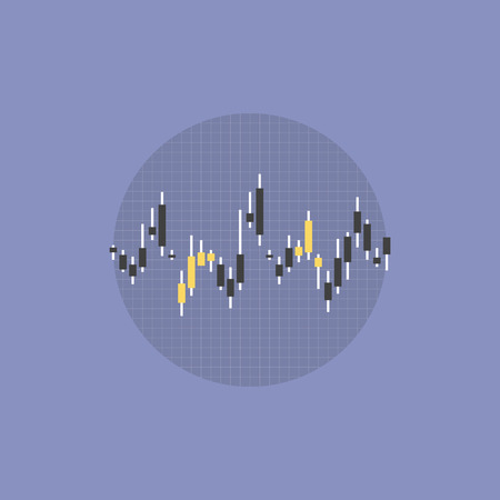 brokers: Stock market data and abstract financial figures. Flat icon modern design style vector illustration concept.