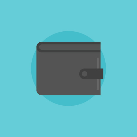 empty wallet: Simple wallet with cash inside. Flat icon modern design style vector illustration concept.