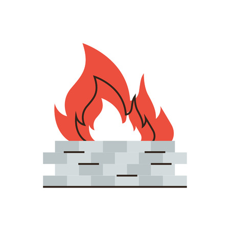 protect safety: Thin line icon with flat design element of firewall protection, internet security, network protect, safety data on web, antivirus fire wall.