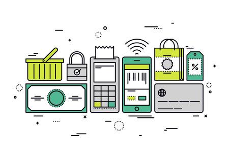 a1a418566ff Online Shopping Vectoren, Illustraties En Clipart - 123RF