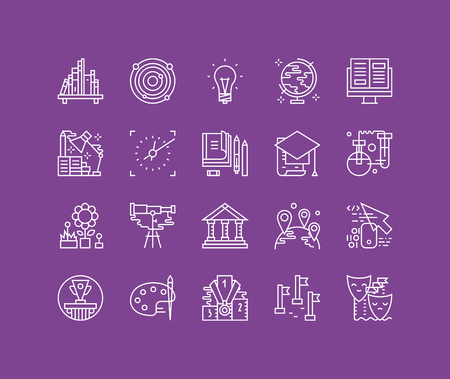 biblioteca: Líneas finas iconos conjunto de gran gráfico centro de datos, sistema de computación en la nube, el acceso a internet de protección de contraseña, instrumento técnico. Esquema de diseño vectorial infografía moderna, simple concepto logo pictograma.