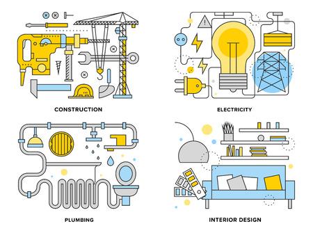 ilustración: Piso Ilustración determinada línea de trabajo construcción arquitectura