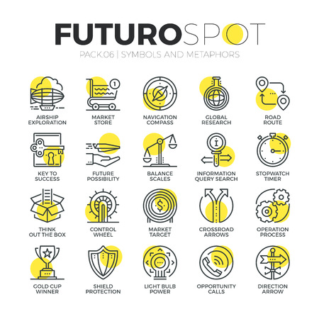 Stroke line icons set of doing business metaphors and market elements. Modern flat linear pictogram concept. Premium quality outline symbol collection. Simple vector material design of web graphics.