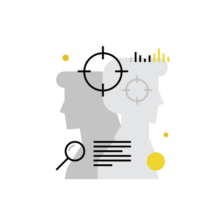 vacancies: Modern vector icon of personnel recruits, head hunting process, human resources. Premium quality vector illustration concept. Flat line icon symbol. Flat design image isolated on white background.