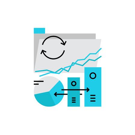 icono moderno del vector de transferencia de datos, carpeta de la unidad sincronizada y documentos compartidos. calidad ilustración vectorial concepto de prima. Símbolo del icono de línea plana. Diseño plano imagen aislada en el fondo blanco.