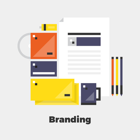line material: Branding Flat Icon. Material Design Illustration Concept. Modern Colorful Web Design Graphics. Premium Quality. Pixel Perfect. Bold Line Color Art. Unusual Artwork Isolated on White.