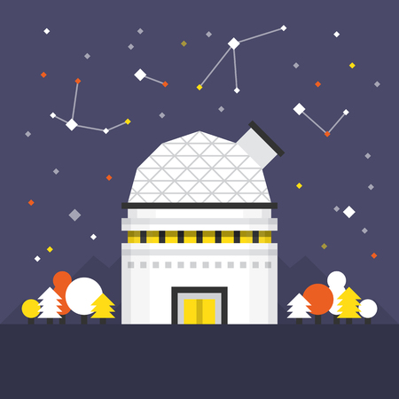 optical people person planet: Space Dome Flat Icon. Material Design Illustration Concept. Modern Colorful Web Design Graphics. Premium Quality. Pixel Perfect. Bold Line Color Art. Unusual Artwork Isolated on White.