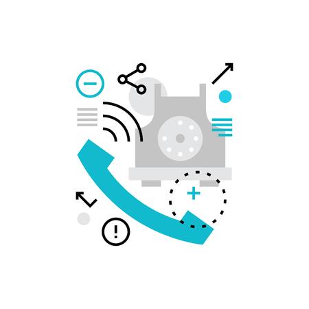 Icône de vecteur moderne de conversation téléphonique, d'affaires et de communication privée. Concept d'illustration vectorielle de qualité premium. Symbole d'icône de ligne plate. Image de design plat isolé sur fond blanc.