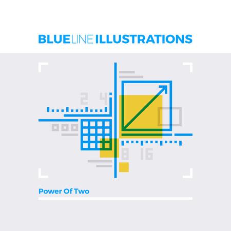 multiplicar: Ejemplo del concepto de la línea azul del sistema de diseño de la metodología de la red y cálculos geométricos. imagen línea plana de primera calidad. línea de icono detallado con elementos gráficos de superposición y se multiplican las formas de color.