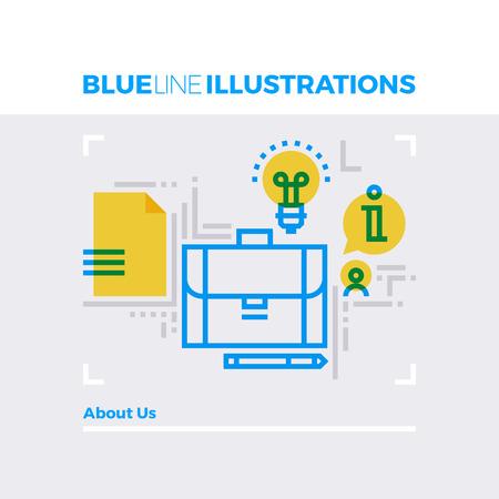 multiplicar: Ejemplo del concepto de la línea azul de información sobre la educación de negocios y cartera. imagen línea plana de primera calidad. línea de icono detallado con elementos gráficos de superposición y se multiplican las formas de color. Vectores