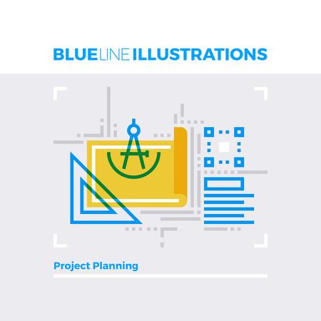 multiplicar: línea azul ilustración concepto de elementos de planificación de proyectos y documentos técnicos. imagen línea plana de primera calidad. línea de icono detallado con elementos gráficos de superposición y se multiplican las formas de color. Vectores