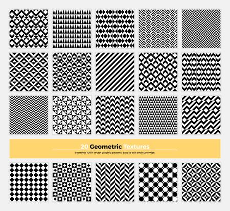 forme: Vecteur géométrique pack de texture de 20 motif abstrait de la géométrie de fond. design épuré et minimaliste moderne avec des formes et des formes collection pour la marque, la présentation, web, print, décoration.