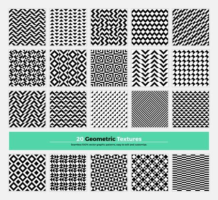 forme: géométrique pack de texture de 20 motif abstrait de la géométrie de fond. design épuré et minimaliste moderne avec des formes et des formes collection pour la marque, la présentation, web, print, décoration.