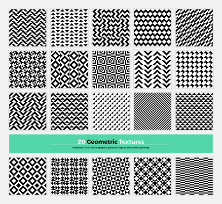 contemporary: geometric texture pack of 20 abstract geometry pattern background. Modern minimalistic clean design with  shapes and forms collection for branding, presentation, web, print, decoration. Illustration