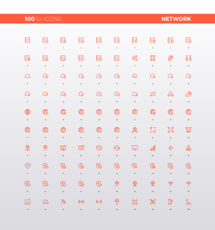 phone: UI icons of cloud computing network connection, local computer internet configuration control and online settings. 32px simple line icons set.