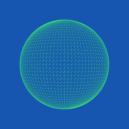 ●球のベクトルイラスト、完全に丸い幾何学的なソリッドフィギュア。3 次元透明オブジェクト。抽象的な多角形の形状と単純な幾何学的形状。色付