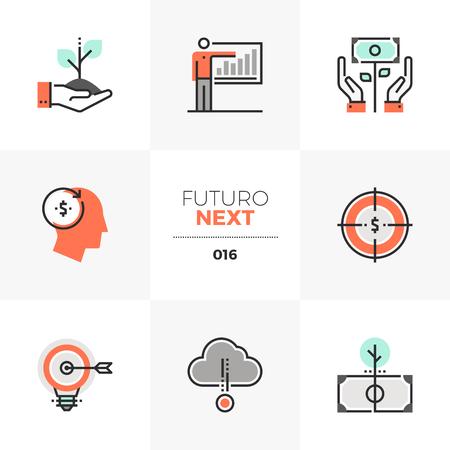 Ensemble d'icônes semi-plates d'investissement intelligent et de capital crowdsource. Éléments graphiques plats de couleur unique avec des lignes de trait.